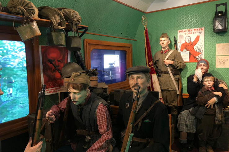«Поезд Победы» покидает Ленинградскую область