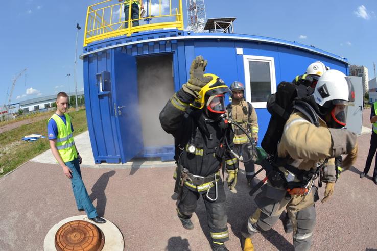 Областные пожарные показали класс