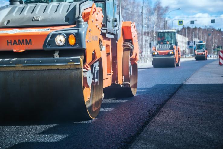 Область продолжает дорожные ремонты