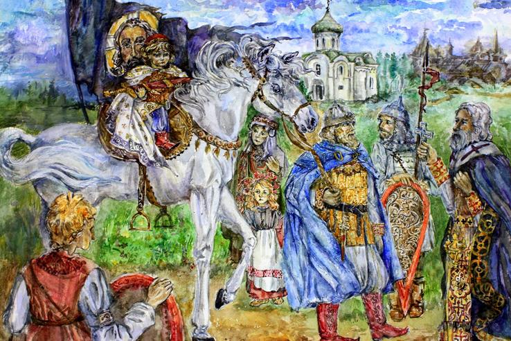 Школьница Лукерья Коротких лучше всех нарисовала Александра Невского