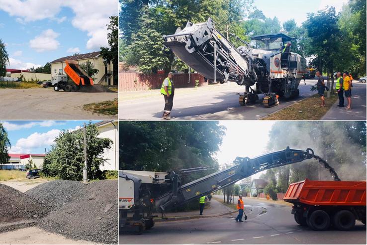 НАЦПРОЕКТЫ – НОВОСТИ ИЗ РАЙОНОВ: в Луге ремонтируют городские дороги